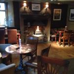 Roaring fire in the White Lion ��