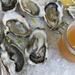 Oysters on the half shell with Honey-Jalapeño mignonette