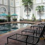 The courtyard pool setting provides a quiet getaway.