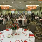 Setting up for the banquet - stafff turned the room in 1 hour