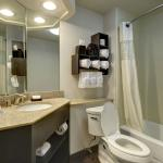 Our bathroom offers ample space to help you look your best in the morning.