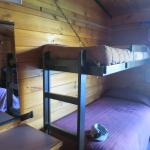 The bunk beds filled up the room, so there was not much space for you luggage