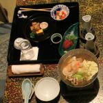Kaiseki meal served in room