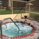 Hubby relaxing in the Adult Only jacuzzi