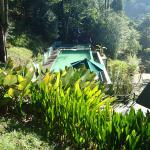 The swimming pool beside the Perling House (as seen from the Sora House)