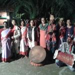 tribal dance in the evening