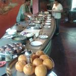 the buffet spread for lunch