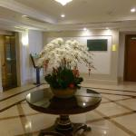 Lovely orchid arrangement in lobby