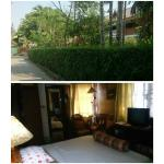 quiet, green leafy garden surrounds, clean cool room with comfy big bed