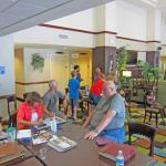 Lobby breakfast area perfect for family reunion