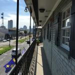 View along Rampart St from 3rd floor