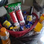 the welcome basket that came with the Signature Villa Package