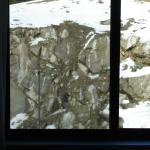 Granite wall and snow