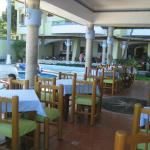 View of restaurant and pool