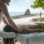 Massage on the beach in front of the hotel
