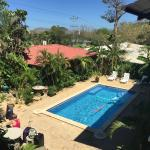 Pool Area and Guest Rooms