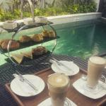 Afternoon tea by our Villa pool