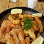 Prawn and calamari