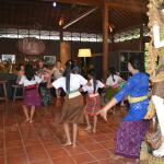 Local dancers entertain us one day one of our visit
