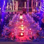 Special Candle light Dinner set up for a Newly married couple