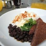 Moroccan Black Bean and Poached Eggs