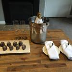 Lovely on arrival treats as part of our spa package
