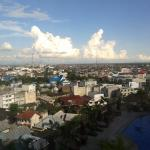 view of Banjarmasin city from the room