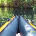 kayaking on the hotel grounds