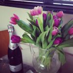 My lovely tulips & prosecco x