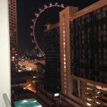 View from Room 1103 window looking at Link High Roller