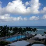 View from our oceanview room on the 4th floor