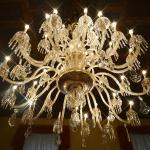 the magnificent chandelier in the breakfast room