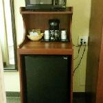 Microwave - Fridge and Coffee maker