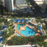 View of the pool area below