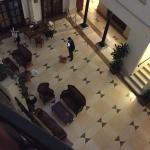 View from Room 18 on to lobby. It's 5.15am and this guy wouldn't shut up -shouting and playing m