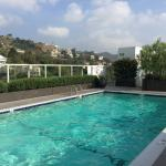 Rooftop pool at the Andaz west hollywood.