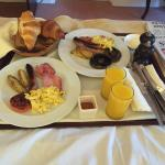 Full English breakfast in bed!