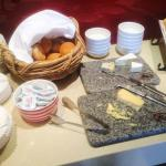 Cheese selection in the Executive Lounge