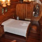 Aft Room with 1 King and Custom full bath (open air shower)