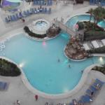 picture of the pool from our balcony on the 11th floor