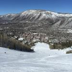 Aspen town from above