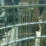 View from the open glass elevator