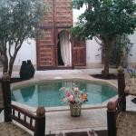 Lovely courtyard of Riad Matham