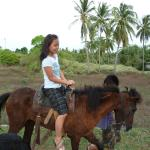 Horse riding just outside the resort