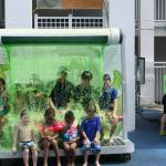 Getting Slimed at the main pool.