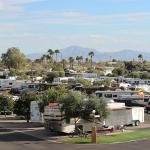 The large RV park offers a variety of sites to accommodate all rig types.