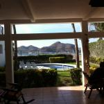 View from Breakfast  verandah area of pool and beach
