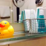 your little companion in the bathroom ��