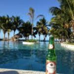 happy hour at one of the infinity pools