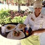 Marisol, excellent service by the pool